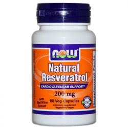 Ресвератрол. Natural Resveratrol, 200 мг, 60 капсул